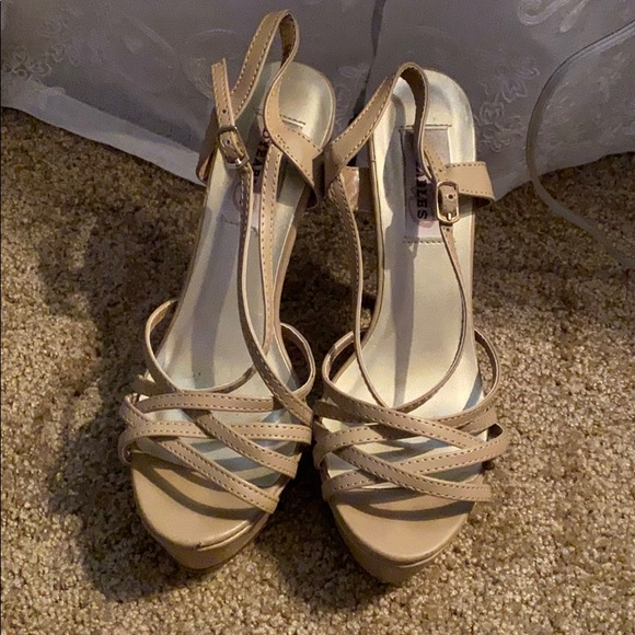 Tan pageant heels